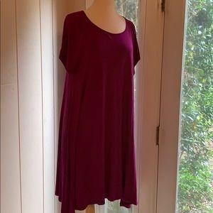 Plum swing dress